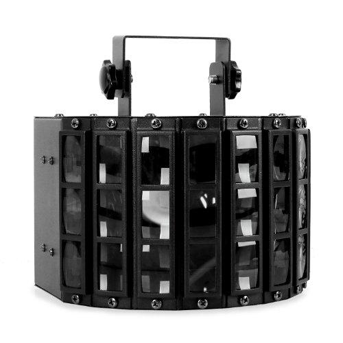 Beamz Butterfly LED-Lichteffekt Disko-Strahler (3x3W RGB LEDs, Musiksteuerung, Automatik-Modus, Wand- und Deckenmontage) schwarz