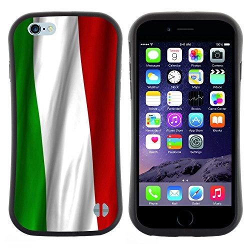 Graphic4You Italien Italienisch Flagge Anti-Rutsch Stoßfeste Hülle Weichen Case Tasche Schale Schutzhülle für Apple iPhone 6 Plus / 6S Plus Design #1