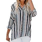 Donna Camicetta Chiffon Blusa Elegante Camicia Manica Lunga Scollo V Camicetta Camicia Bavero Elegante Bluse UOMOGO