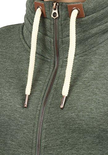 DESIRES Vicky Zipper Damen Sweatjacke Jacke Sweatshirtjacke Mit Stehkragen, Größe:M, Farbe:Climb Ivy (8785) - 4