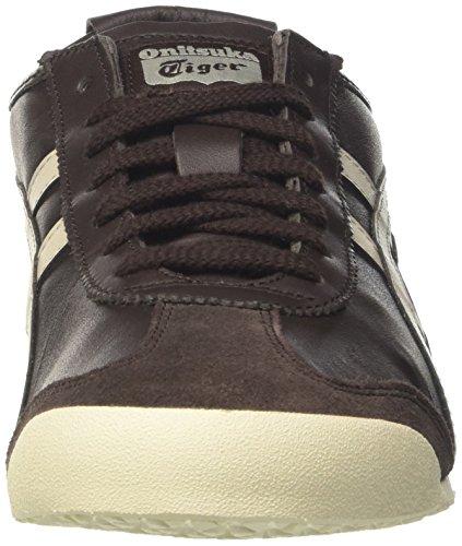 Asics Mexico 66 Sneakers, Scarpe da Ginnastica Basse Unisex-Adulto Multicolore (Coffee/Feather Grey)