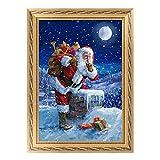 Danigrefinb Home decorative Arts Crafts cucito ricamo Wall Hanging painting 5D Snowman Santa Claus DIY Diamong pittura punto croce Craft Home Decor, Santa Claus