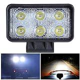 LDCRE 18w 6000K Rectangle Offroad Driving Brouillard Phare Spot LED Travaux de révision Ingénierie Révision Lumières Projecteur Tout-Terrain