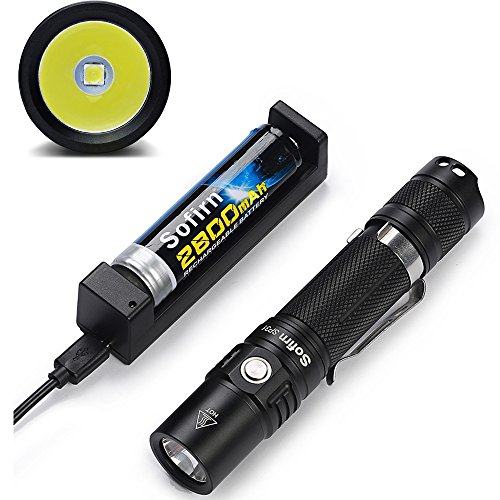 Preisvergleich Produktbild Sofirn SP31 LED Hochleistungstaschenlampe mit 960 Lumen, 4+2 Modi, IPX-8 wasserdicht, inclusive 18650 Li-Ion Akku und USB-Ladegerät