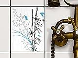 Dekor-Fliesen | Selbstklebende Aufkleber Folie Sticker Badfliesen Küchen-Folie Badezimmergestaltung...