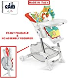 #7: CAM ISTANTE BABY HIGH CHAIR (ROSSO) - MADE IN ITALY