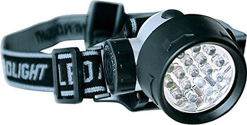 Zebco Lampe frontale 17 LED Noir Taille M