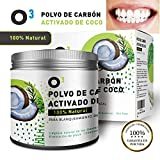 O³ Carbon Activado Dientes – Polvo Blanqueador Dental De Coco 100%...