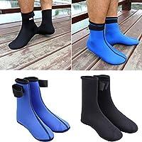 Favolook - Calcetines de buceo para agua, 3 mm, neopreno, buceo, buceo, surf, natación, deportes y botas de buceo, negro, Large