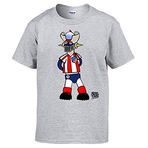 Camiseta Atlético de Madrid el Atleti de los 80 Mazinger Z - Gris, XL