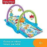 Fisher-Price Tapis musical d'éveil et d'activités 2-en-1 Hippocampe pour bébé,...