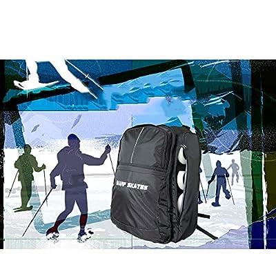 ACCDUER Electric Skateboard Backpack Bag, Regular Skateboard Longboard Rucksack Tasche Träger für Jede Größe Board mit Laptop-Tasche