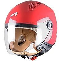 Astone Helmets Mini Jet Army Casco Jet, color Rojo Cereza, talla S