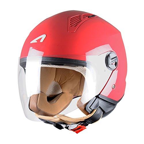 Astone Helmets Mini Jet Army Casco Jet, color Rojo Cereza, talla L