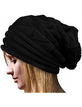 Gorro de invierno, RETUROM Nuevo estilo de las mujeres de invierno ganchillo Hat lana Knit Beanie caliente Caps