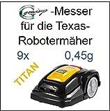 9 TITAN Messer Ersatzmesser Klingen 0,45mm für Texas Smart G-force SB900 Smart G-force SB1200 Pro G-force SR2000