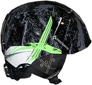 TecnoPro jeunes adultes de ski-xT iS8 team casque de ski noir/vert 226534 black/green XS=48-51