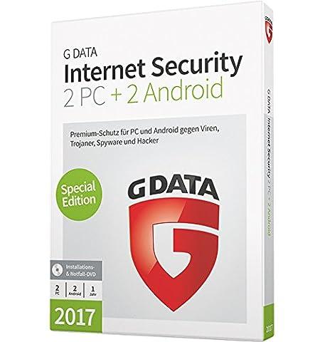 G DATA Internet Security 2017 für 2 PC + 2