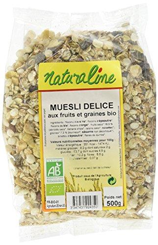 Moulin des Moines Muesli Délice aux Fruits Exotiques Graines 500 g BIO - Lot de 5