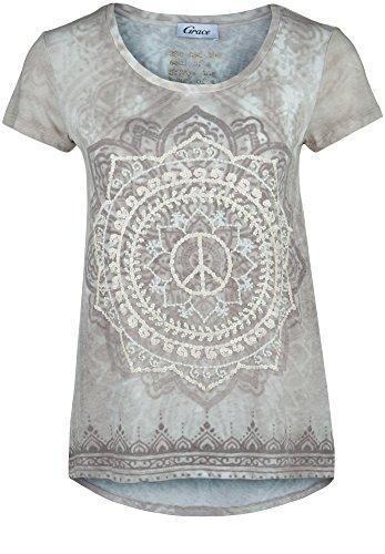 Grace -  T-shirt - Maniche corte  - Donna pietra L