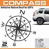 #1: Compass Black Decal / Sticker for SUVs ( Duster, Creta, Brezza Etc)