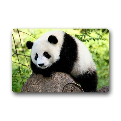 corative Bamboo Panda Bear Doormat for Drying Wet Feet, Grabing Dirt and Dust 23.6 X 15.8 Inch ()