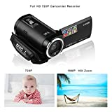 PowerLead PLC1204 720P Digital Video Camcorder 16MP Camera DVR 2.7inch TFT LCD 16x ZOOM Video Recorder