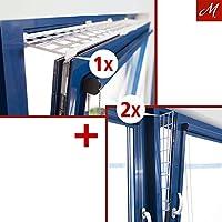 Kippfenster-Schutzgitter Set, Kunstoff, 3-tlg., ausziehbar, weiß - 75-125x16 cm