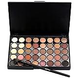 Lanspo Make Up Brushes, Cosmetic Matte Eyeshadow Cream Makeup Palette Shimmer Set 40 Color+ Brush Set (A)