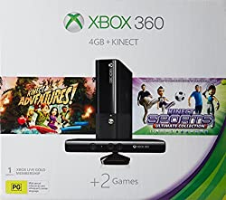 Microsoft Xbox 360 4GB Console with Kinect (Free Games: Kinect Sports Ultimate Collection and Kinect Adventures )