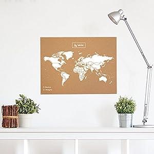 Miss Wood Map L – Mapa del Mundo de Corcho