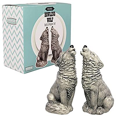Howling Wolf Salt & Pepper Set from Streamline