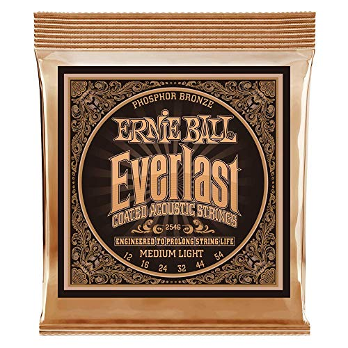 Ernie Ball Everlast Medium Light Coated Phosphorbronze Akustikgitarrensaiten - 12-54 Gauge -