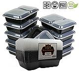 Mikrowelle und spülmaschinenfest stapelbar Mahlzeit Prep Kunststoff Lebensmittel Behälter mit