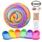 Swallowzy Fluffy Slime Kit - 12 onzas Fluffy Floam Slime Putty con Bolas de Espuma y...