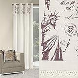 Vorhang Ösenvorhang 140x250 cm CITY 3 mit New York Motiv Wohnzimmer Modern Blickdicht 60%