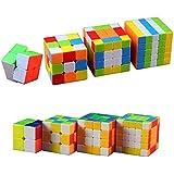 Wing of wind® Rubiks Würfel Zauberwürfel Rubik's Cube Set 2x2 3x3 4x4 5x5 (4 in Paket)