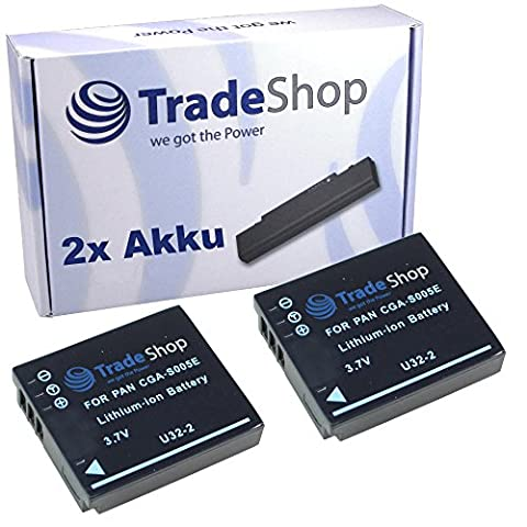 2x Hochleistungs Kamera Projektor Beamer Li-Ion Akku für Panasonic Lumix DMC-FX-12 DMC-FX-50 DMC-FX-100 DMC-FX-150 DMC-LX-1 DMC-LX-2 DMCLX3 3M Mpro M-pro 110 Micro Projector FAVI Mini Projector