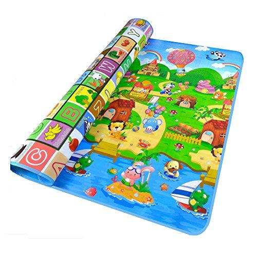 Laat bebé ramper alfombra de juegos juguete espuma suave hermética, diseño « Alphabets