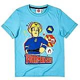 Sam, el bombero Camiseta para Rescatar | Tamaño 98-128 Niños Shirt, T-Shirt 86-164:110, Color:Azul pálido