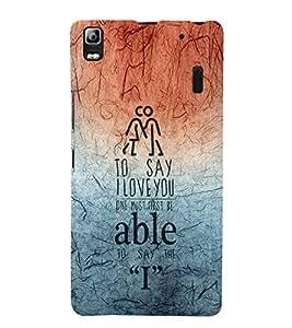 EPICCASE I love you Mobile Back Case Cover For Lenovo K3 Note (Designer Case)
