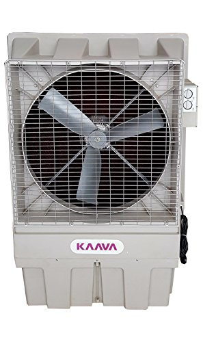 KAAVA Tent Cooler for Spot Cooling Wow-18K 4G with Castor Wheels (White)