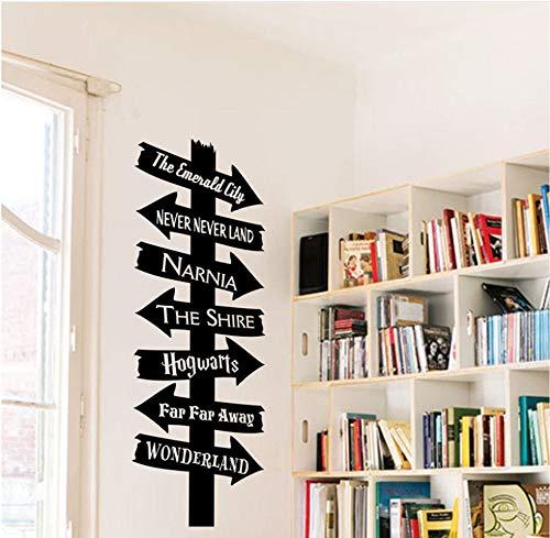 Lzyx Cartello Stradale Art Decalcomania Della Parete Del Vinile Per Le Aule Scolastiche Librerie Adesivo Murale Rimovibile Decorazione Della Casa Educativa Poster57X20Cm