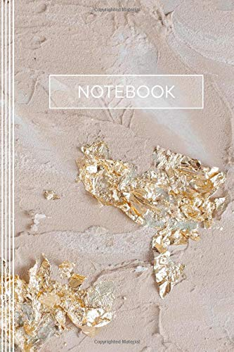 Notebook: Artsy Blank Sketch Paper Journal For Drawing, Sketching, Doodling - Composition Book For Girls Women - Blush Pastel Cream Beige Rose Gold ... For Women - Elegant Abstract Art Pattern -