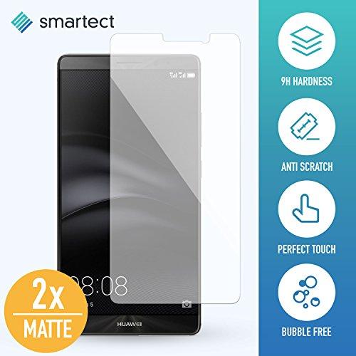 [2x MAT] Protection d'Écran en Verre Trempé pour Huawei Mate 9 de smartect® | Film Protecteur Ultra-Fin de 0,3mm | Vitre Robuste avec 9H de Dureté et Revêtement Anti-Traces de Doigts