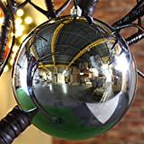 Große 30cm Außen Geschäftsdeko Weihnachtskugel, glänzend, bruchsicher, von Festive Lights (Silber)
