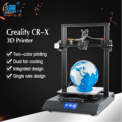 Laecabv Creality CR-X 3D Drucker 3D-Druckmaschinen Dual Extrusion Color Semi -Assembled Integrated 3D Printer - Größeres Volumen DIY Kit - Print Size 300 x 400mm