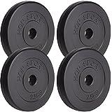 Hop-Sport 10 kg Hantelscheiben 4 x 2,5 kg Kunststoff Gewichte