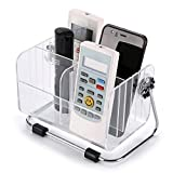 #5: AEXiVE Home Storage Stand Shelf Acrylic TV Remote Control Clear Holder Mobile Phone Key Pen Glasses Rack Cosmetic Organizer Multifunctional Box Bins