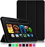 """Fintie Amazon Kindle Fire HDX 7 SmartShell Case - Ultra Slim Lightweight Stand Cover with Auto Sleep / Wake for Kindle Fire HDX 7"""" (3rd generation - 2013 release), Black"""
